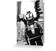 Lego Venom in the city Greeting Card