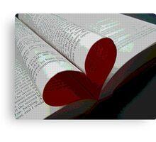 Valentine Novel Canvas Print