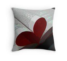 Valentine Novel Throw Pillow