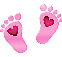 Baby feet with heart by boom-art