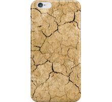 Clay soil with cracks without water. soil erosion iPhone Case/Skin