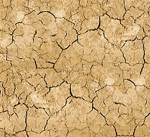 Clay soil with cracks without water. soil erosion by Sergieiev