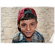 Egyptian Boy at Karnak Poster