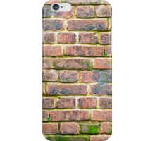 weathered brick wall with various shades of brick.  iPhone Case/Skin