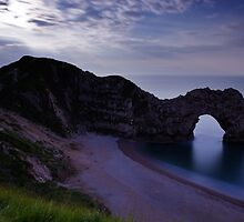 Durdle Door under a moonlit sky by Ian Middleton