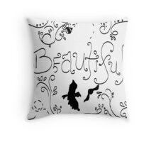 BeautifulScribble Throw Pillow