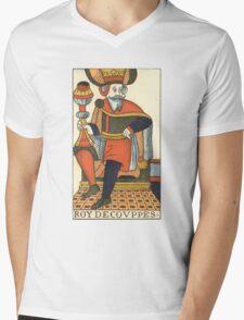 King Of Cups Tarot Card Mens V-Neck T-Shirt
