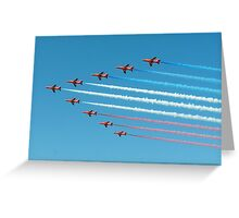 Red Arrows in Saudi Arabia 02 Greeting Card