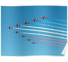 Red Arrows in Saudi Arabia 02 Poster