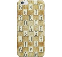 seamless background with letters .  iPhone Case/Skin
