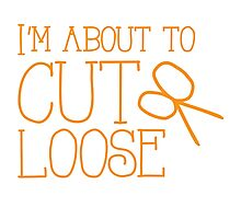 I'm about to CUT LOOSE (with hair stylist scissors) Photographic Print