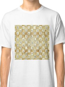 seamless background with letters .  Classic T-Shirt