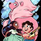 Steven, Connie, and Lion by sharpie91