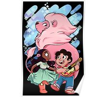 Steven, Connie, and Lion Poster