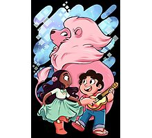 Steven, Connie, and Lion Photographic Print