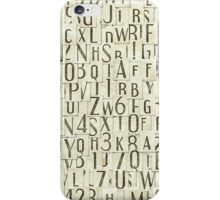 seamless background with letters iPhone Case/Skin