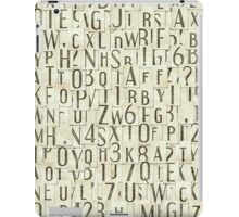 seamless background with letters iPad Case/Skin