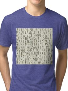seamless background with letters Tri-blend T-Shirt
