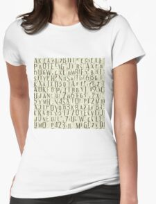 seamless background with letters Womens Fitted T-Shirt