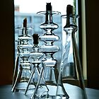 Glass Candlesticks by studyinlight