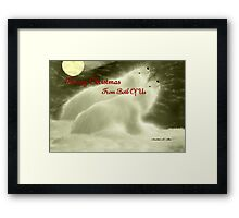 MERRY CHRISTMAS ~ FROM BOTH OF US Framed Print