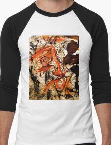 crazed matador's passionate visions of a flamenco gal Men's Baseball ¾ T-Shirt
