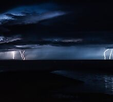 Hervey Bay Lightning by Brent Randall