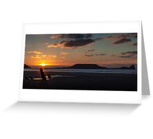 Worm's head and the wreck of Helvetia Greeting Card