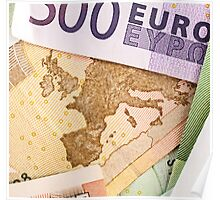 Map of Europe on 50 Euro banknote  Poster