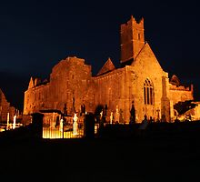 Quin Abbey at night by John Quinn