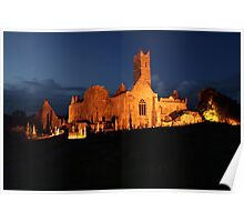 Night at Quin Abbey Poster