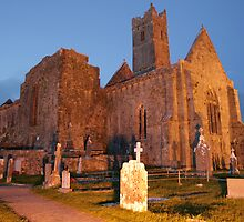 Quin Abbey evening view by John Quinn