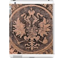 Threadbare coat of arms of the Russian empire iPad Case/Skin