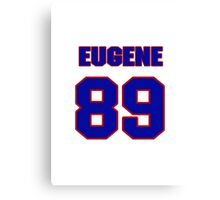 National football player Eugene Riley jersey 89 Canvas Print
