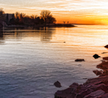 Purple Rocks Sunrise – Lake Ontario Impressions Sticker