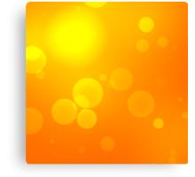 Bright defocused orange light background Canvas Print