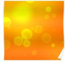 Bright defocused orange light background Poster