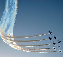 Red Arrows in Saudi Arabia 05 by Graham Taylor