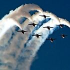 Red Arrows in Saudi Arabia 03 by Graham Taylor