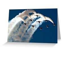 Red Arrows in Saudi Arabia 03 Greeting Card