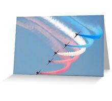 Red Arrows in Saudi Arabia 04 Greeting Card