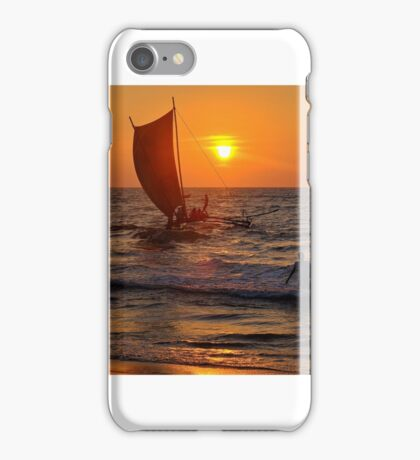 Sunset Negombo Beach iPhone Case/Skin