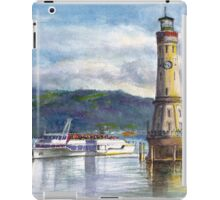 Lindau Lighthouse and Harbour, Germany iPad Case/Skin