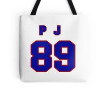 National football player P.J. Gore jersey 89 Tote Bag