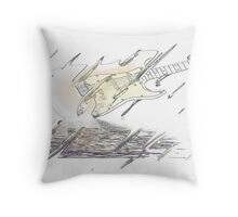 Rock in the rain. Throw Pillow