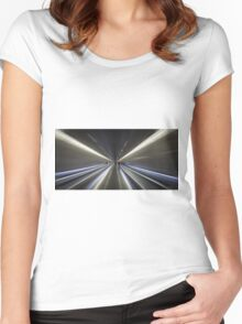 Barcelona subway Women's Fitted Scoop T-Shirt