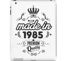 Year of birth - Made in 1985 iPad Case/Skin
