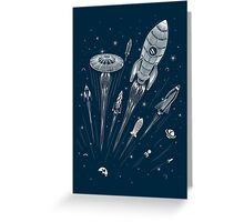 Space Race Greeting Card