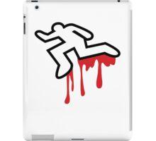 MURDER OUTLINE Coroner outline dead person  iPad Case/Skin