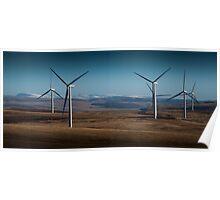 Wind turbines on Betws mountain Poster